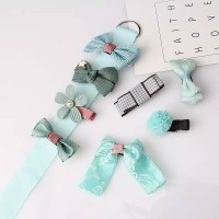 Baby Girl Hair Accesories 8 pcs - Turquoise