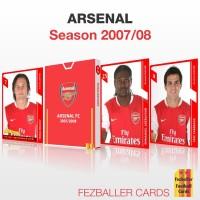 Kartu Bola Fezballer Cards tim ARSENAL season 2007-2008