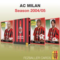 Kartu Bola Fezballer Cards tim serie A AC MILAN season 2004-2005