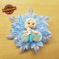 Hairbow : Frozen Snowflake - Blue