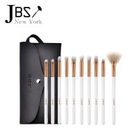 JBS New York makeup brush / 10 Makeup Tools Set eye brush White  K-023