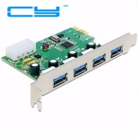 VIA chip USB3.0 USB 3.0 4 ports PCI-E pcie pci Express adapter Control