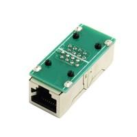 Black Female to Female Network LAN Connector Adapter Coupler Extender