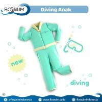 Cuddleme Goswim Diving Lengan Panjang Size M 3-5 tahun  Baju Renang  