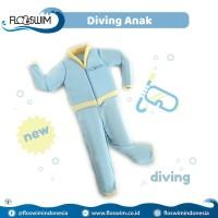 Cuddleme Goswim Diving Lengan Panjang size XL 7-9Th   Baju Renang Anak