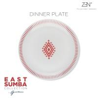 ZEN x Gayatri Wibisono Piring Makan East Sumba Terracotta - 27 cm