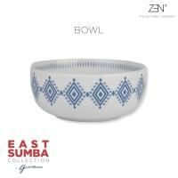 ZEN x Gayatri Wibisono Mangkok East Sumba Blue - diameter 15 cm