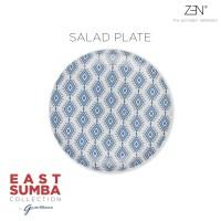 ZEN x Gayatri Wibisono Piring East Sumba Blue - 22 cm