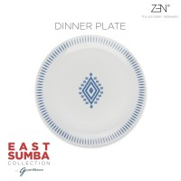 ZEN x Gayatri Wibisono Piring Makan East Sumba Blue - 27 cm