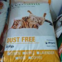 pasir wangi Eco San 20 kg/pasir kucing wangi nggumpal(Via Go-jek)