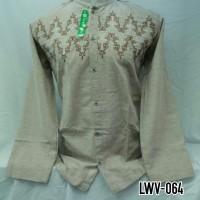 Baju Muslim Pria Dewasa Baju Koko Lengan Panjang Coklat Muda LWV 064