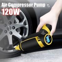 Pompa Angin dan Pengukur tekanan Ban Mobil Nirkabel 120W Rechargable