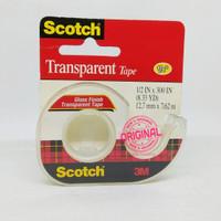 Tape - Scotch - cat 144SS Transparent tape 1/2inch x 300 inch