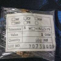 1000 PCS RESISTOR 1 OHM 1/4 WATT 5%