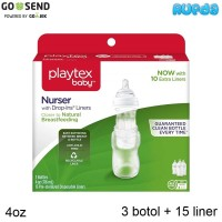 Playtex Nurser Bottle with Drop-Ins Liners 4oz 3 Botol Susu Dropins