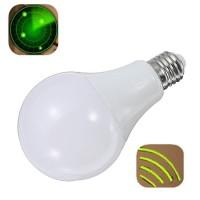 E27 9W 24LEDs Pure White Radar Sensor Light Bulb Car Detection Lamp