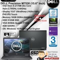 DELL Mobile Precision M7530 Xeon E-2176M/16GB/512GB SSD/VGA 4GB/W10PRO