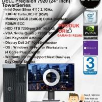 DELL Precision T7920 MT Xeon Silver 4110/64GB/4TB/VGA/W10PRO + P2419H