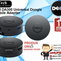 DELL DA300 USB-C Mobile Adapter Compact 6-in-1 Support 4K Display