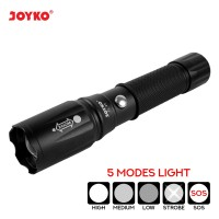 Rechargeable LED Flashlight / Senter LED Isi Ulang Joyko FL-83