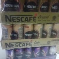 nescafe kaleng 240ml original,latte dan original isi 24