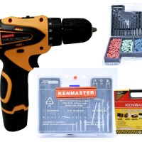 Kenmaster Bor Cordles KM-0612 (10 MM) 12V & Kenmaster Mata Bor Fisher