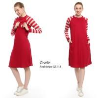 Just Mom Baju menyusui GISELLE Red Stripe GS118