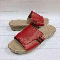 sandal kulit garut hak 3cm