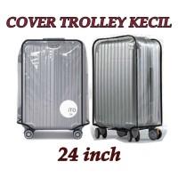Cover Trolley Mika 24 Inch Kecil Sarung Plastik Tebal Penutup Koper Tr