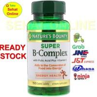 Nature's Bounty Super B-complex with Folic Acid + Vitamin C 150 Tabs