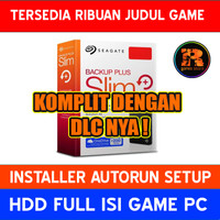 Hardisk Eksternal 2TB Full isi Game PC | HDD Seagate Backup Plus Slim