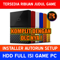 Hardisk Eksternal 2TB Full isi Game PC | HDD WD My Passport New Model