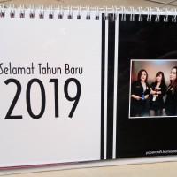 Kalender Meja Tahun 2019 Bentuk Portrait
