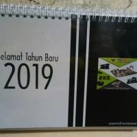 Kalender Meja Tahun 2019 Bentuk Portrait Tema Promosi Perusahaan