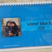 Kalender Meja Custom Foto Tahun 2019 Bentuk Portrait