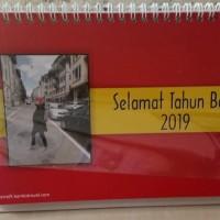 Kalender Meja Tahun 2019 Bentuk Landscape Tipe 1