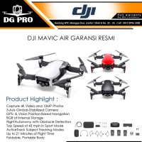 DJI MAVIC AIR COMBO GARANSI RESMI - DRONE MAVIC AIR FLY MORE COMBO