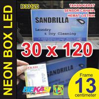 B30120 - Neon Box LED Otomatis Aluminium Extrusion Uk 13 x 30 x 120 cm