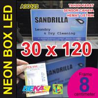 A30120 - Neon Box LED Otomatis Aluminium Extrusion Uk 8 x 30 x 120 cm