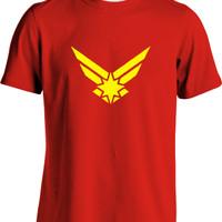 Reogers : Kaos Premium Minimalis Captain Marvel