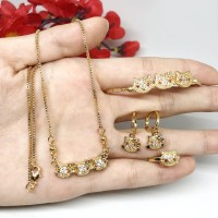 Set Perhiasan Anak Kitty Kalung Anting Gelang Cincin - BS002
