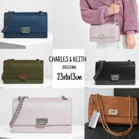 Harga realpict tas charles and keith front flap bag original tas | antitipu.com