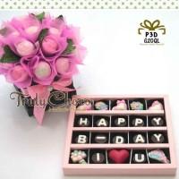 hadiah ulang tahun special cokelat Trulychoco dengan bunga