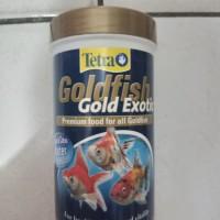 makanan ikan tetra goldfish gold exotic 80 gr granules