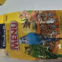 makanan burung vitakraft premium menu budgies 500 gr kenari