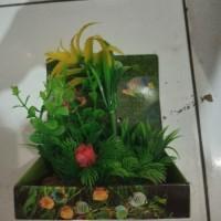 aquarium hiasan dasar aquarium tanaman plant assesoris reptil gecko 2