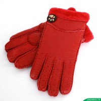 Kaos Tangan Wanita Kulit 100% Genuine Leather warm Gloves For women