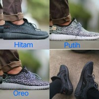 Sepatu Adidas Yeezy Yezzy Yezzi Import Vietnam Black Pirate All Hitam