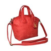 Hand Bag GVNCY Red Motif -Kenes Leather