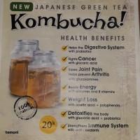 Teh Kombucha Tea dengan mason jar